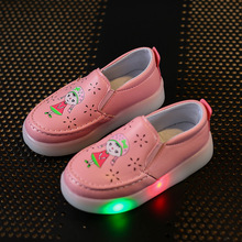 2017 new children's shoes boys and girls cute cartoon fashion led lights casual shoes size 21-25