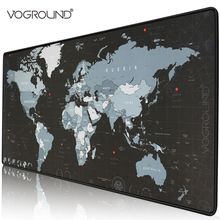 Gaming Mouse Pad Large Gamer Big Mat Computer Mousepad Rubber World Map Mause Game Keyboard Desk