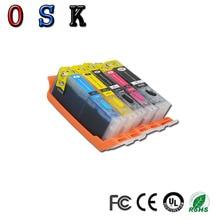 OSK 5pcs edible ink cartridge PGI-870 CLI-871 for Canon PIXMA MG7780 TS8080 TS9080 printer
