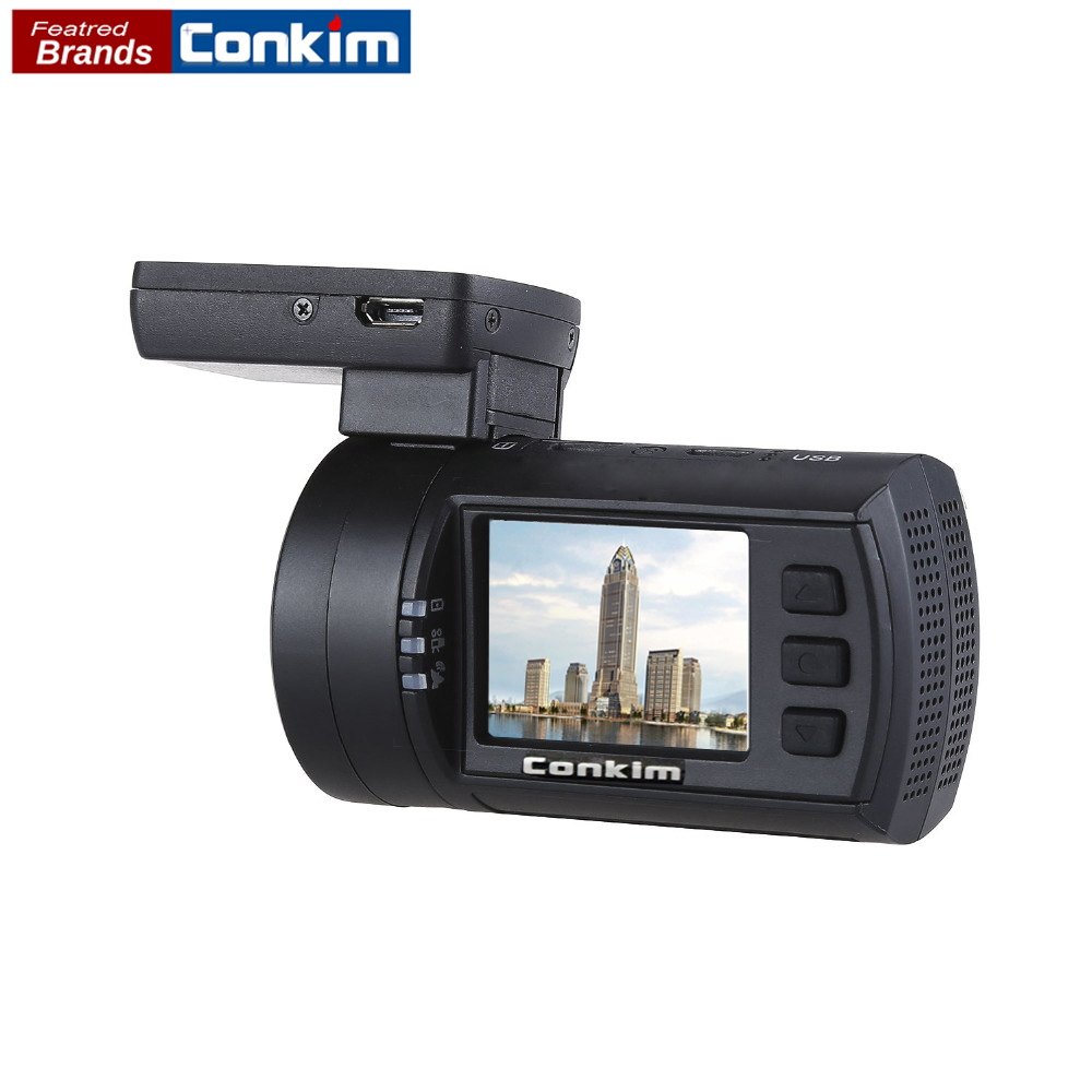 Conkim Car DVR Registrar Novatek 96663 1080P 60FPS Ultra HD Auto Dash Cam Video Recorder GPS Temperature Protect Mini 0906s conkim novatek 96655 dvr dash cam camera wifi gps auto registrar 1080p full hd video recorder 24h parking guard mini 0903 nanoq