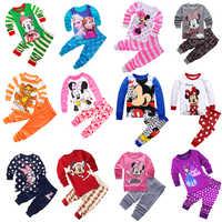 Neue Kinder Kleinkind Baby Mädchen anna elsa tigger Mickey Minnie Maus Nachtwäsche pj Cartoon Langarm Top + Hose 2 stücke Pyjamas Sets