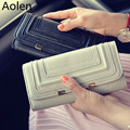 Aolen Small Wallet Female Purse Designer Wallets Famous Brand Women 2016 Luxury Leather Ladies Zipper Short Design High Quality