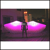 Free shipment length 4m inflatable large feather angel wings for party decoration