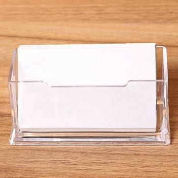 1pc wyczyść pulpit wizytownik na karty biznesowe biurko organizator biurowy stojak akrylowy materiały biurowe akcesoria biurowe tanie i dobre opinie discountHEH CN (pochodzenie) V4OKH5DMK36706 Średniej wielkości Z tworzywa sztucznego Akrylowe Nachylona Kariery Miękki plastik