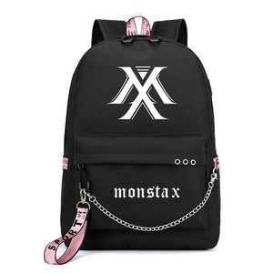 Image 2 - Balo Monsta X Wanna One Jisoo Lisa Ba Lô Phong Cách Hàn Quốc Trường Túi Mochila Laptop Du Lịch Túi Với Dây Chuyền USB Cổng Tai Nghe