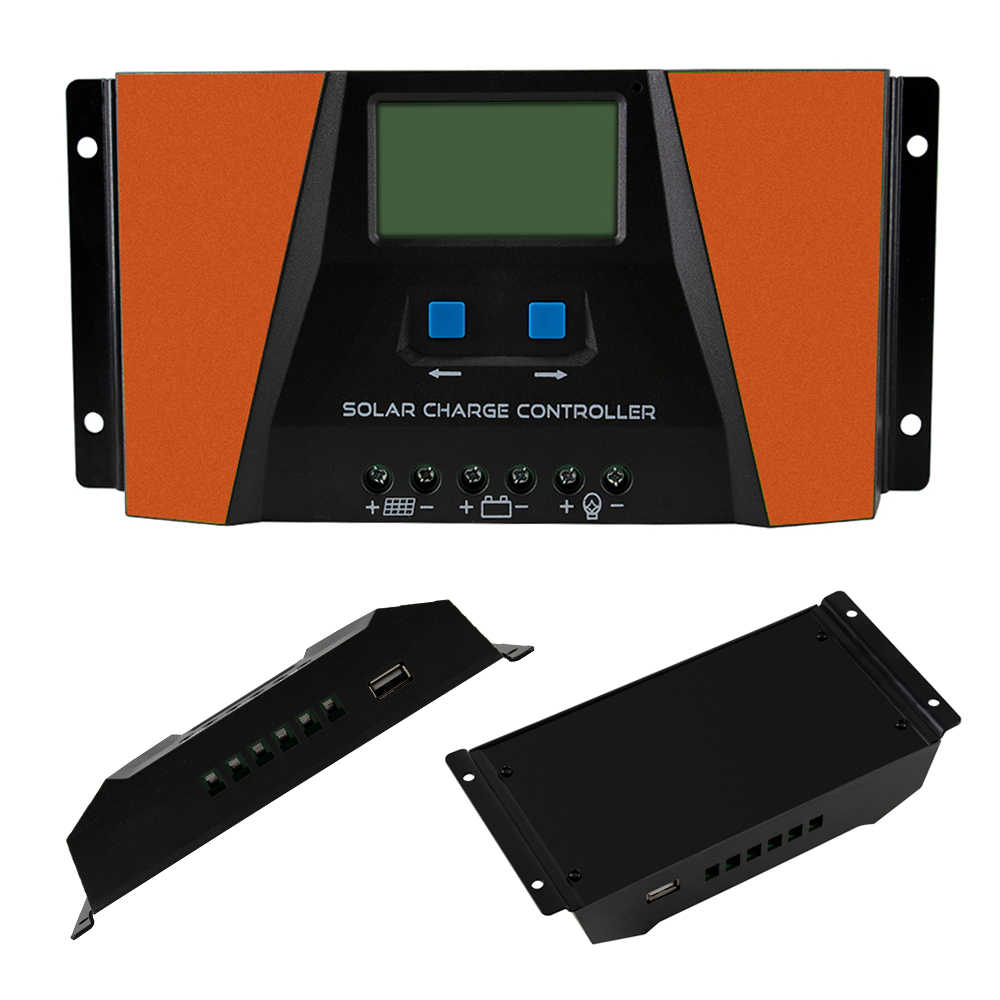 PWM 10A 20A 30A Solar Charge Controller 12V 24V Auto with LCD Display USB Output Solar Cell Panel Regulator PV Home Solar System