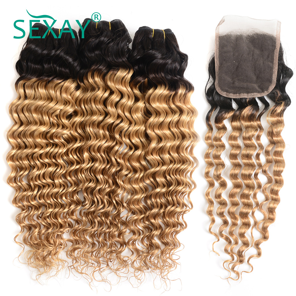Best Quality Sexay Pre Colored 3 Bundles Pack With Closure Two