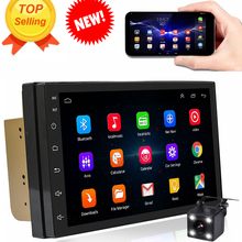 Sale Shopping In US. Order Now! Rhythm 2 din android 6.0 car radio auto bluetooth double din multimedia player universal GPS Navigation 1024*600 support dab