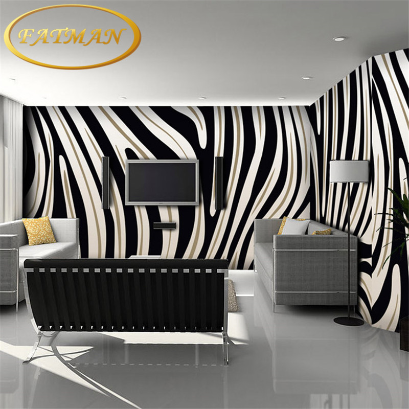 Custom 3D photo wallpaper zebra striped mural living room sofa wall coffee house restaurant bar bedroom wallpaper mural free shipping 3d personality wallpaper sofa tv coffee house bar backdrop living room bedroom bathrom wallpaper mural
