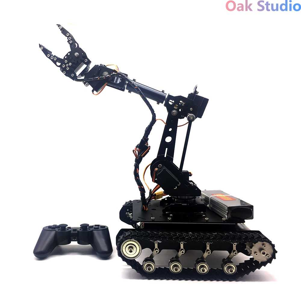 TS100 shock absorption tanks with WiFi/Bluetooth/Handle control Mobile  Robot Arm Robotic Gripper, for DIY RC Robot Model Kit