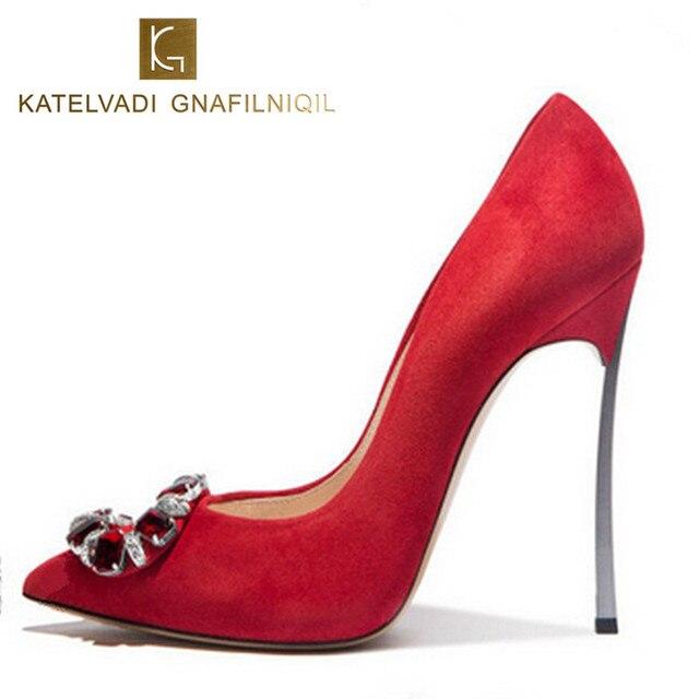 b5dca8dcee3 Marque femmes chaussures pompes 10 CM talons hauts mariage chaussures femme  talons hauts femmes pompes rouge