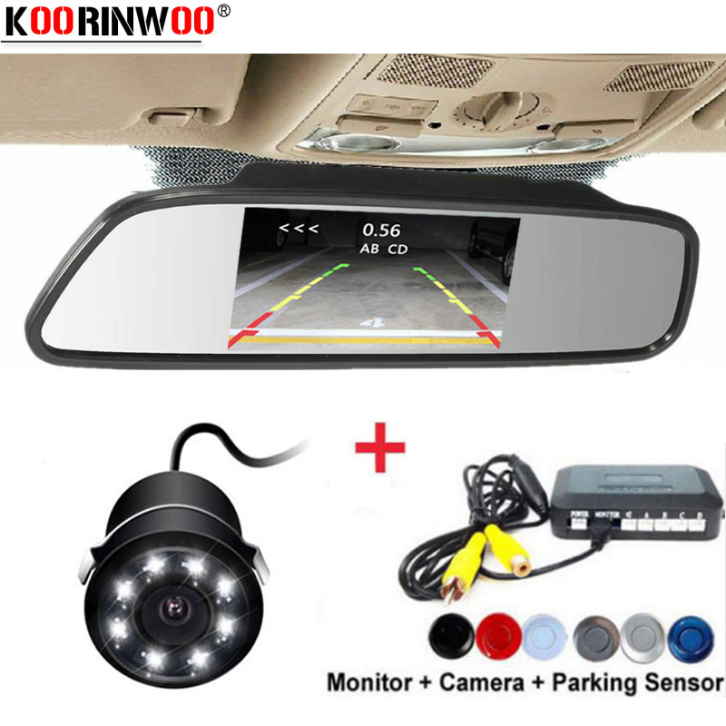 Koorinwoo Ultrasonic CPU Car Parking Sensors Alarm Buzzer Rear Radar Car Rear view camera Parktronic Monitor Mirror Car detectorKoorinwoo Ultrasonic CPU Car Parking Sensors Alarm Buzzer Rear Radar Car Rear view camera Parktronic Monitor Mirror Car detector