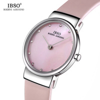 IBSO Brand Fashion Refined 7MM Ultra Thin Ladies Watch Luxury Elegant Women Watches 2018 Montre Femme Quartz Wristwatches