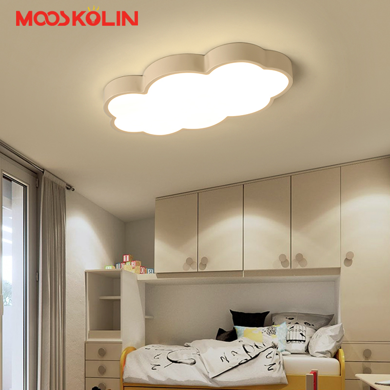 Us 65 41 40 Off Luminaire Cloud Kids Room Lighting Children Ceiling Lamps Baby Light With Yellow Blue Red White Iron Led In