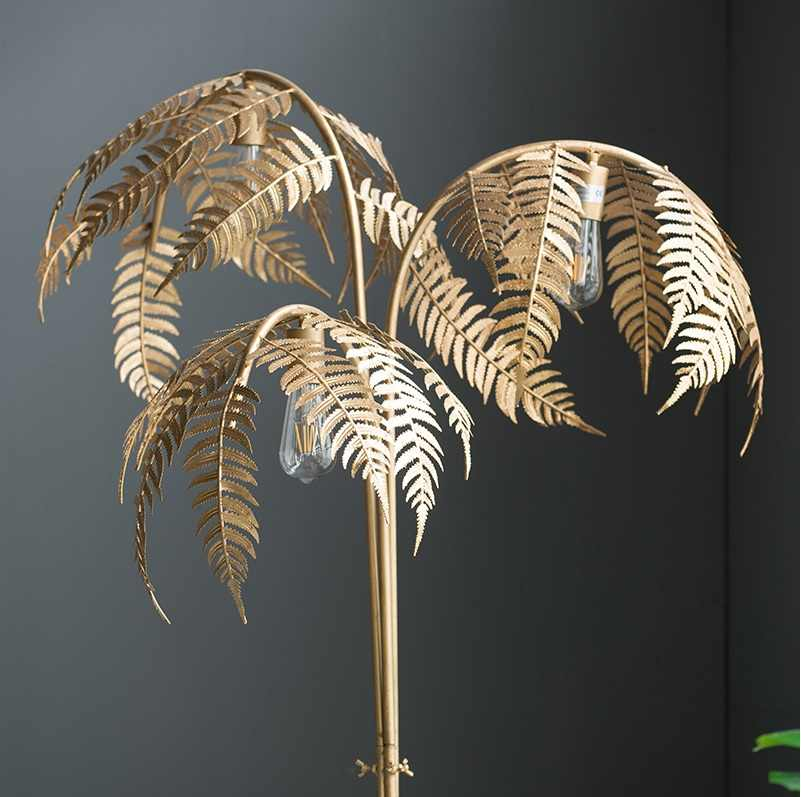180cm Metal Palm Tree Floor Lamp With Golden Finish 3