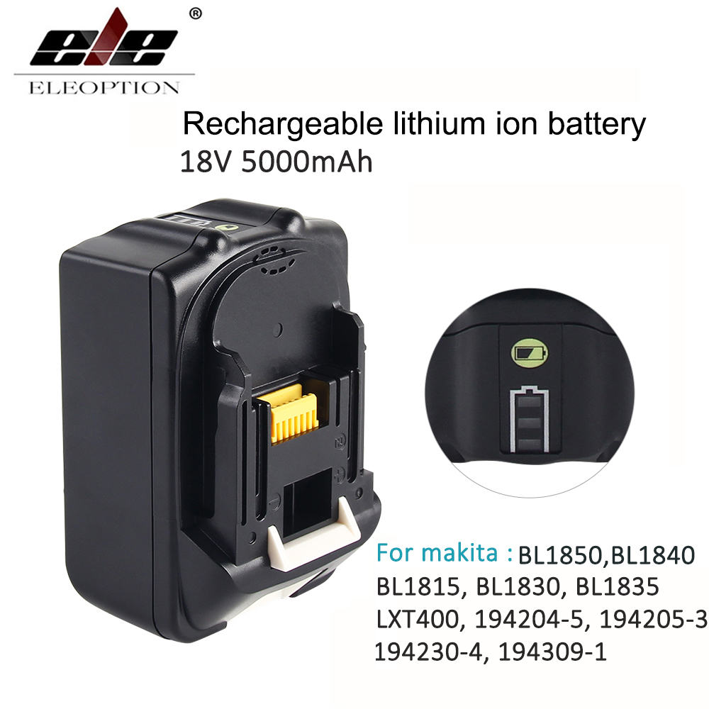 For Makita BL1850 18V Battery 5000mAh Rechargeable Li-ion Power Tools Batteries for Makita 18V 5.0ah BL1860 BL1850BL1840 BL1830 18v 6000mah rechargeable battery built in sony 18650 vtc6 li ion batteries replacement power tool battery for makita bl1860