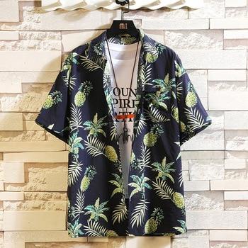Print Brand Summer Hot Sell Men's Beach Shirt Fashion  4