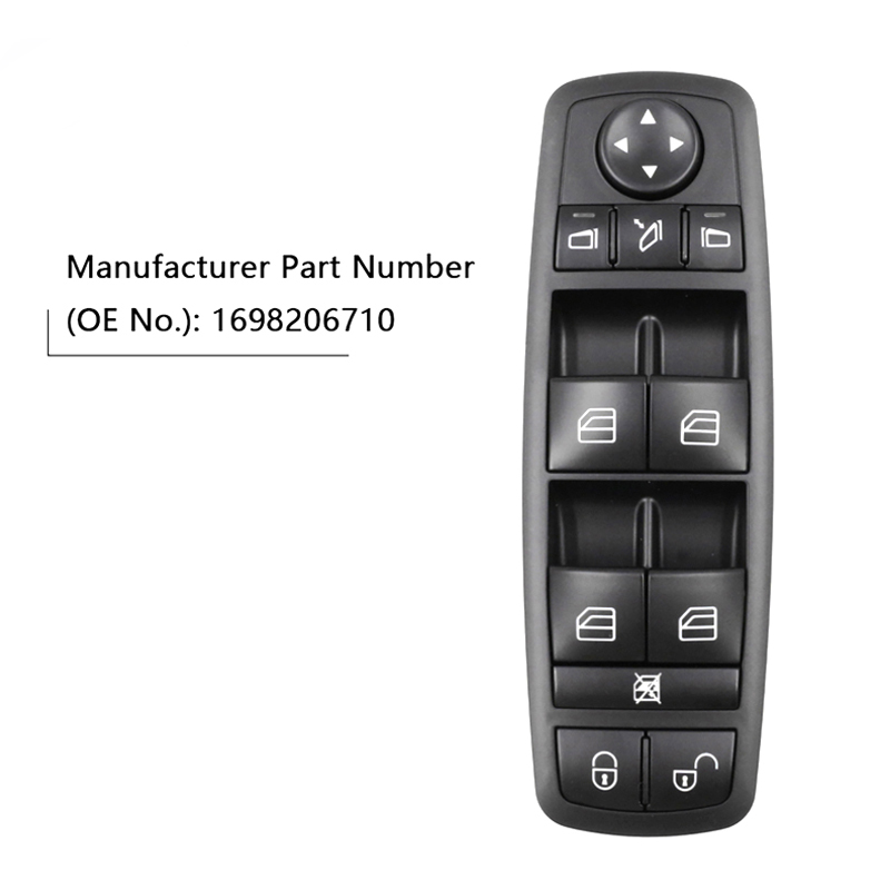 New High Quality Power Window lock Switch Fits For Mercedes-Benz B-Klasse W245 W169 A-Klasse <font><b>A1698206710</b></font>, 1698206710 image