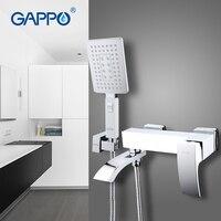 GAPPO 1set high quality bathroom bathtub shower faucet set waterfall sink faucet with hand shower head bath mixer wall G3207 8