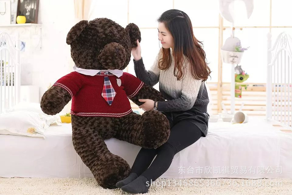 Valentine's Day present large 120cm teddy bear dressed school uniform bear plush toy soft throw pillow birthday gift w5435 80cm large super cute plush toy dog bulldog husky shiba pug pillow down cotton filling as a gift to the children and friends