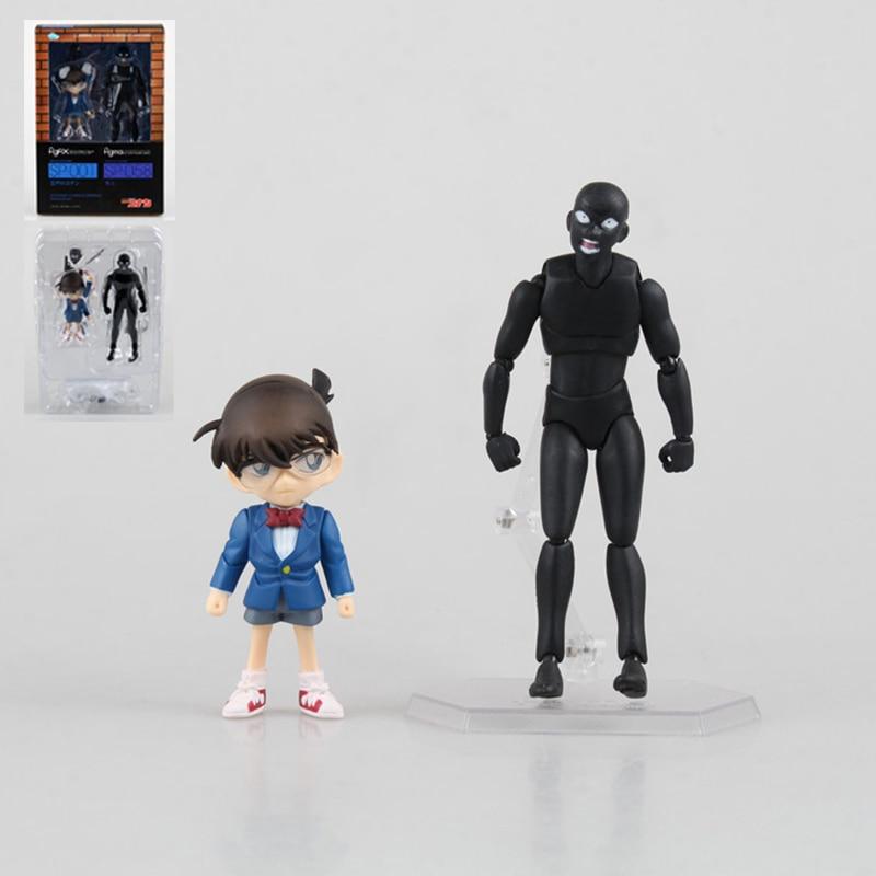 2Pcs/Set Anime Detective Conan Fig FIX SP-001 Figma SP-058 Action Figure Toy PVC Collectible Model Dolls 14cm With Box