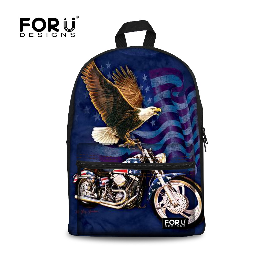 9a3641f46d764 Erkek Tuval Sırt Çantaları Hayvan Kartal Baskı Sırt Çantası Tiki Tarzı  Çocuk Okul Çantaları Gençler için Serin Çocuk Bagpack
