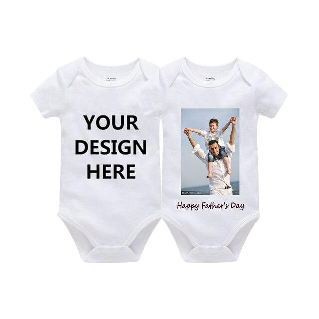 Tùy chỉnh In Một Mảnh Trang Phục Cotton Sơ Sinh Cậu Bé Cô Gái 0-24 Tháng Trắng Cơ Thể Bebes Blanco Roupa Menina Rắn new Baby Jumper