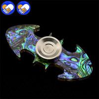 SHELL Inside PMMA Making Fidget Spinner Batman Shape Finger Spinner Hand Spinner A1350
