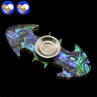 SHELL Inside PMMA Making Fidget Spinner Batman Shape Finger Spinner Hand Spinner A1350