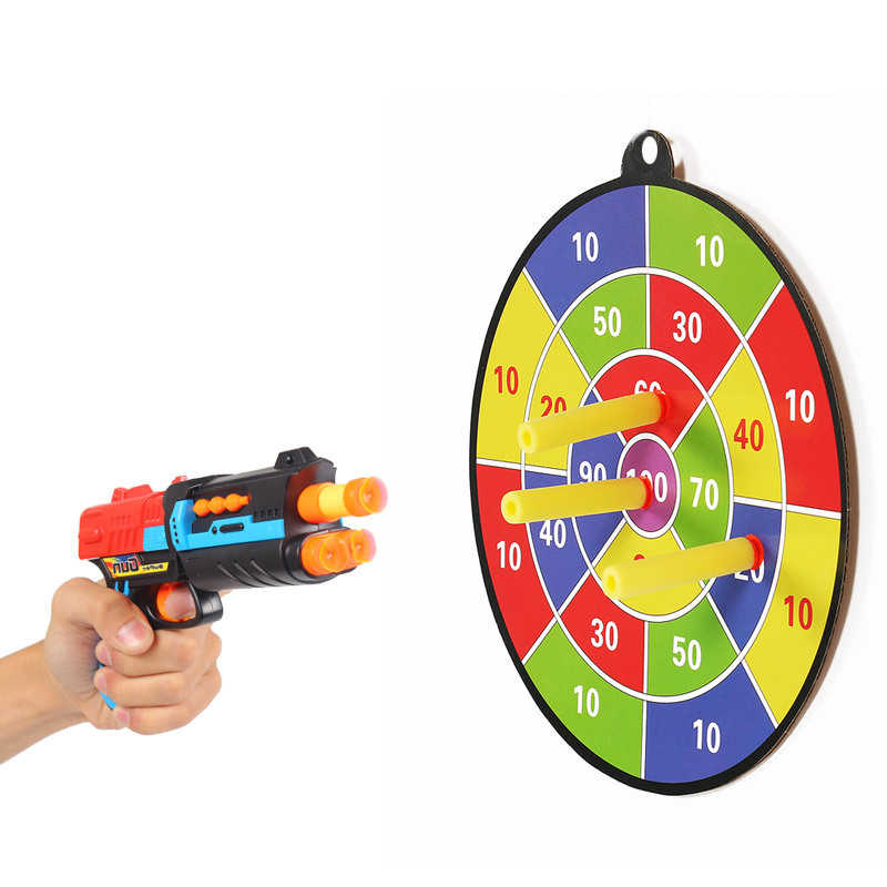 Safe Darting Target for Kids Toys Flying Toys Sucked Type Dart Board Kids Bullet Ball Target Game Throwing Sports