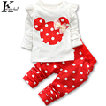 KEAIYOUHUO New Children Clothing T-shirt + Pants Girls Sets Baby Girl Clothes Casual Long-Sleeved Sport Suit Costume For Kids