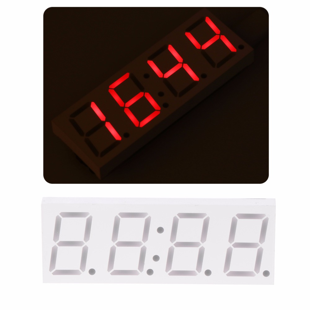 DS3231 Electronic DIY 0.8inch Dot Matrix LED Clock Kit 4 Digit Display 5V Mciro USB Car Clock Digital Timers image