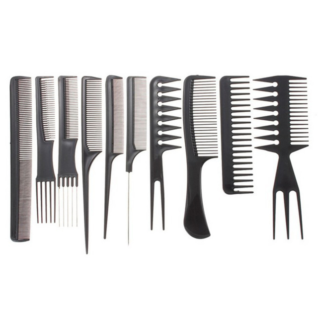 Hair Styling Combs 10Pcs Anti Static Hair Comb Brush Kit Quality Hair Styling Comb .