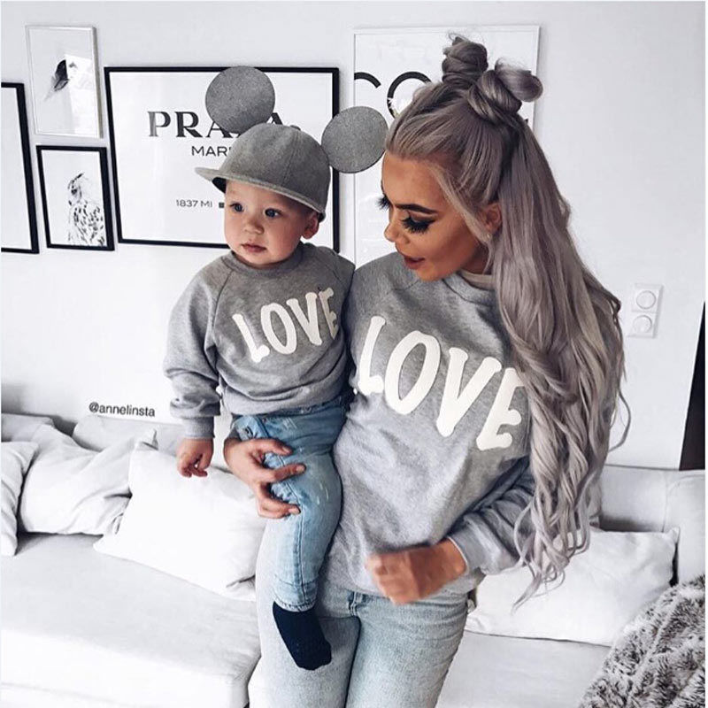 Family Matching T-Shirt Love Mother Son Daughter M...