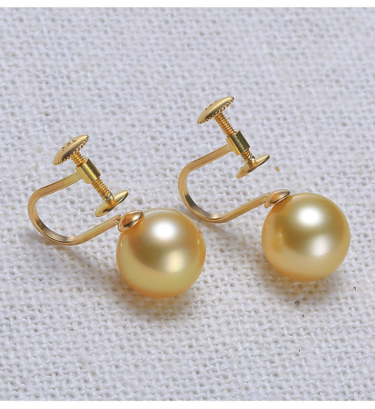 gold southsea pearls earrings jewelry 77