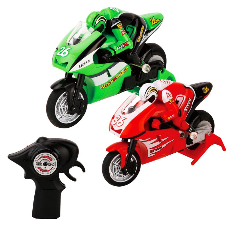 2.4G 3CH 1/20 Scale Mini <font><b>RC</b></font> <font><b>Motorcycle</b></font> Remote Control Electronic Toy Christmas Children Kids Gift image