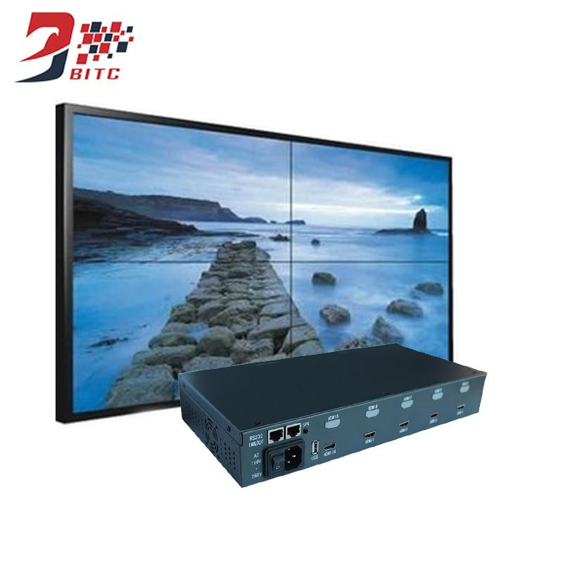 цена на SZBITC Video Wall Processor 2x2 1080P 4 Screen Splicing 1x2 2x2 1x3 3x1 4x1 4x1 IR Control Support 180 Degrees Rotation