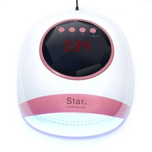 Star4 72W Nail Dryer UV LED Lamp Gel Polish Curing with Bottom 10s/30s/60s/99s Timer LCD Display Smart Sensing