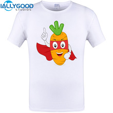 super carrot man Cool Design 2017 Summer Short Sleeve T-Shirt New Arrival Funny Print Tops Cotton Novelty Tee Shirts Plus Size
