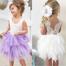 1-5Y Baby Girl Ball Gown Lace Dresses Kids Formal Dress For Girls Baby Girl Lace Party Prom Bridesmaid Pageant Dresses Vestido