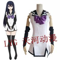 Japanese Anime Brynhildr in The Darkness Cosplay Kuroha Neko Costumes Sailor Dress Uniform Clothes Masquerade/Halloween Costumes
