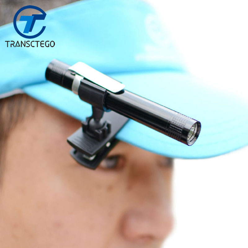 TRANSCTEGO Portable Head Lamp Led Mini Clip Cap Brim Light Bait Plate Fishing Lamps Book Light By 1pcs*AAA Battery