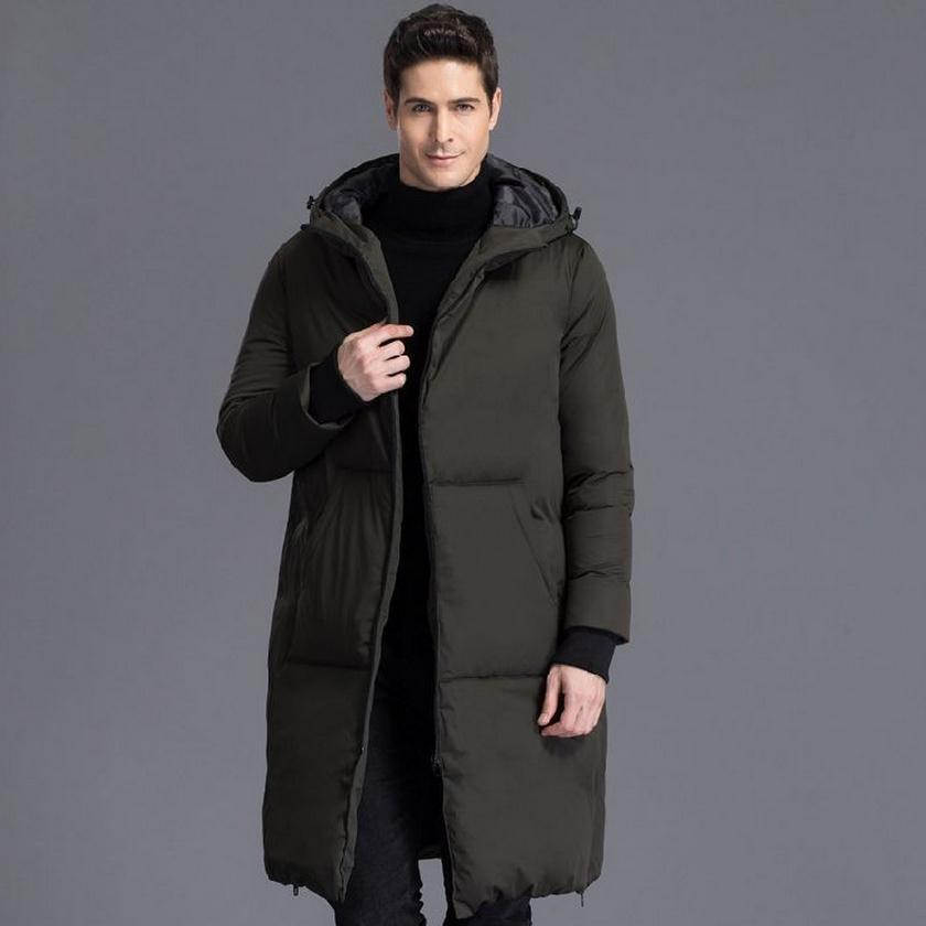 S-4XL Plus size 2017 Winter fashion mens 90% duck down Jacket brand thicker warm Jacket Coats Casual warm jacket in cold w1563
