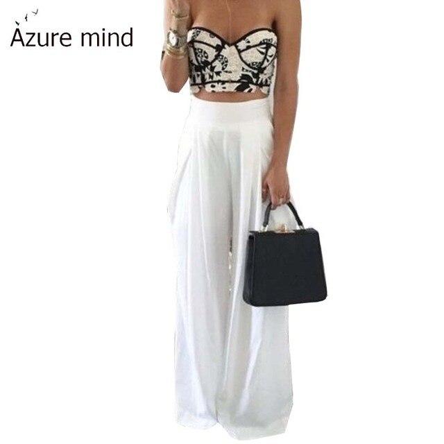 a49bbabe06 2015-tallas-grandes-para-mujer-de-la-impresi%C3%B3n-Floral-pantalones-anchos -de-la-pierna-pantalones-de
