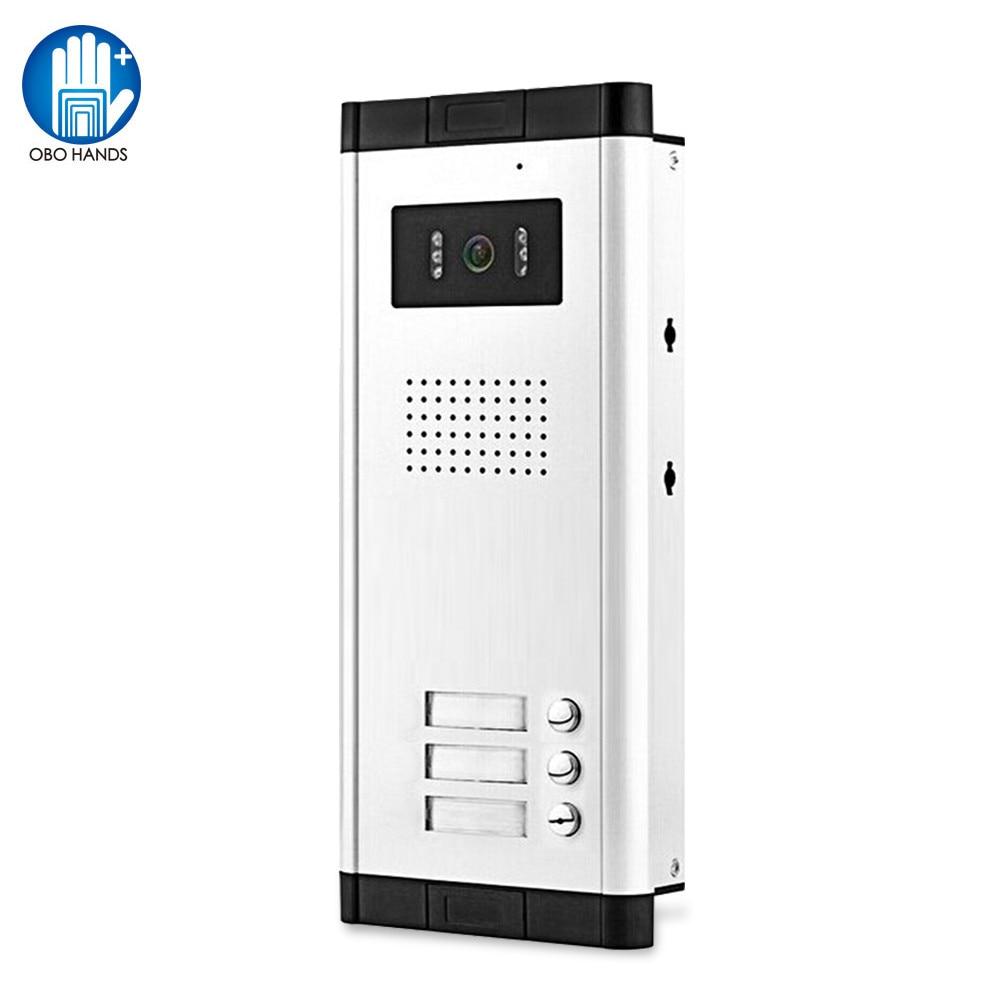 Color Video Doorbell Door Phone Intercom System 700TVL IR Night Vision Camera Door Bell for 2 Monitors 3/4/6 Apartments Home