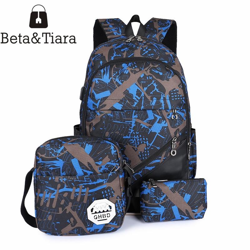 Fashion school bags for boys nylon camouflage backpack unisex laptop backpack travel bag bagpack bolsa escolar 3pcs/set велосипед stels navigator 310 2016