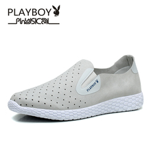 Playboy men's shoes breathable loafers ultra-light lazy summer sandals for men in British men's fashion leisure shoes boys