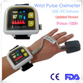 Modern Heal Force Prince-100H Hand Wrist Pulse Blood Oxygen Saturation Meter Color Screen Oximetry Heart Heartbeat Alarm Test