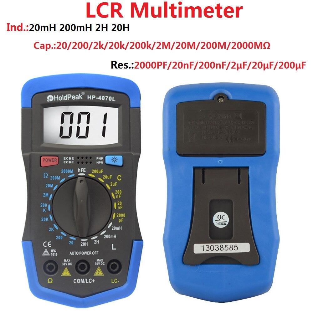 HoldPeak HP-4070L Capacitance Meter Digital  Inductance Meter LCR Meter  hFE Test Manual Range  цены