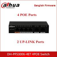 Dahua POE Switches DH PFS3006 4ET 4 Port Fast Ethernet Switch PoE Suporte 802.3af POE 802.3at POE + Hi PoE fonte de Alimentação Padrão|Acessórios para CFTV| |  -